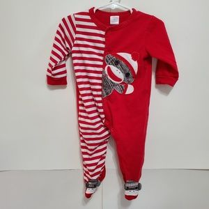 Cre8ions 9months Red Sock monkey outfit